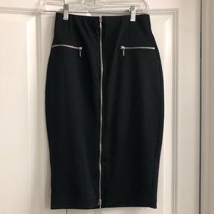 JLo Black Pencil Skirt